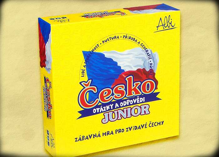 Desková kvízová hra - Česko Junior