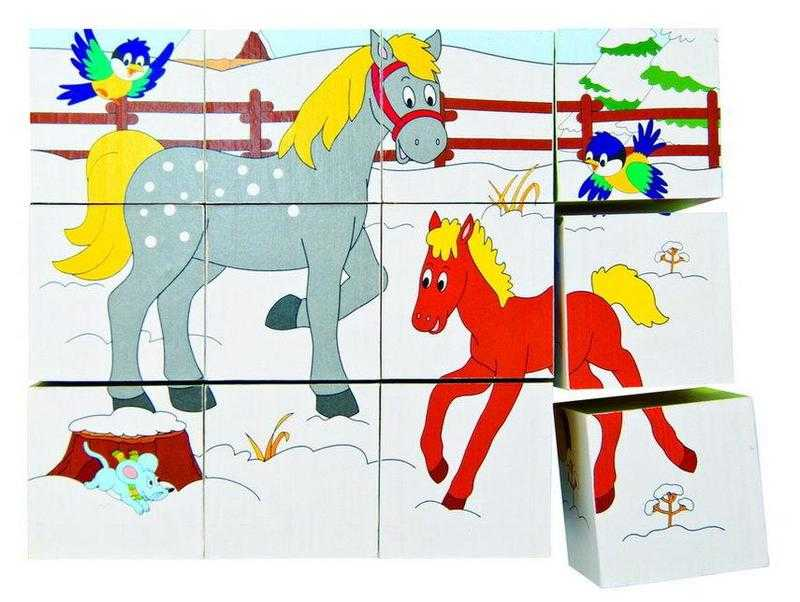 Woody - Kubus 3x4 - Zvířátka v ročních obdobích