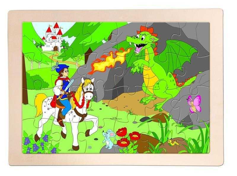 Woody - Dřevěné puzzle Princ Bajaja