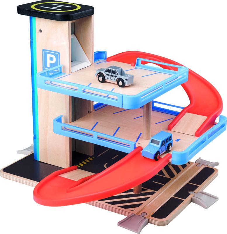 Woody garáž s výtahem a příslušenstvím - dřevo/plast