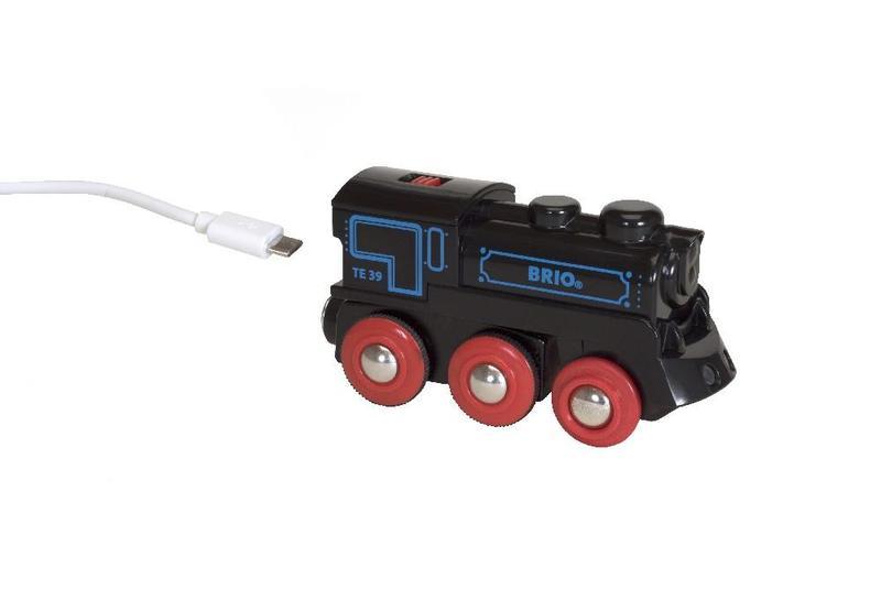 Brio Elektrický lokomotiva nabíjecí přes mini USB kabel