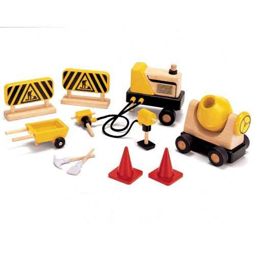 Dřevěné hračky - Dřevěné stavební stroje