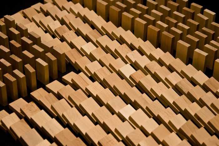 Dřevěné natural domino v tubě - 830 ks