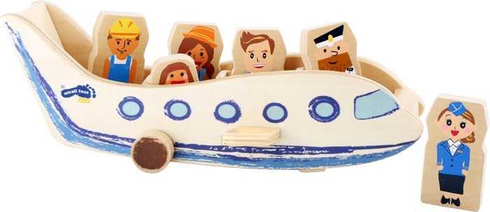 Small Foot drevené hračky - Lietadlo s cestujúcimi