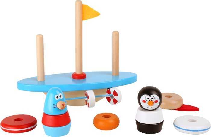 Small Foot Drevená motorická balančné hra - Južný pól