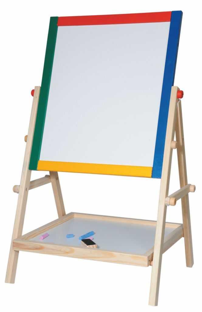 Školní pomůcky - Dětská tabule-natur rám s poličkou, 65cm