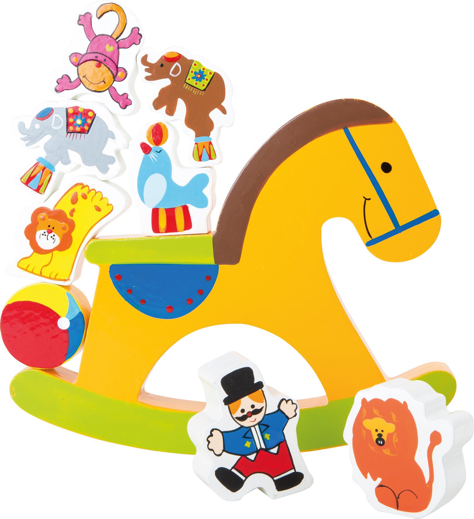 Small Foot Drevená motorická hra - Koník cirkus