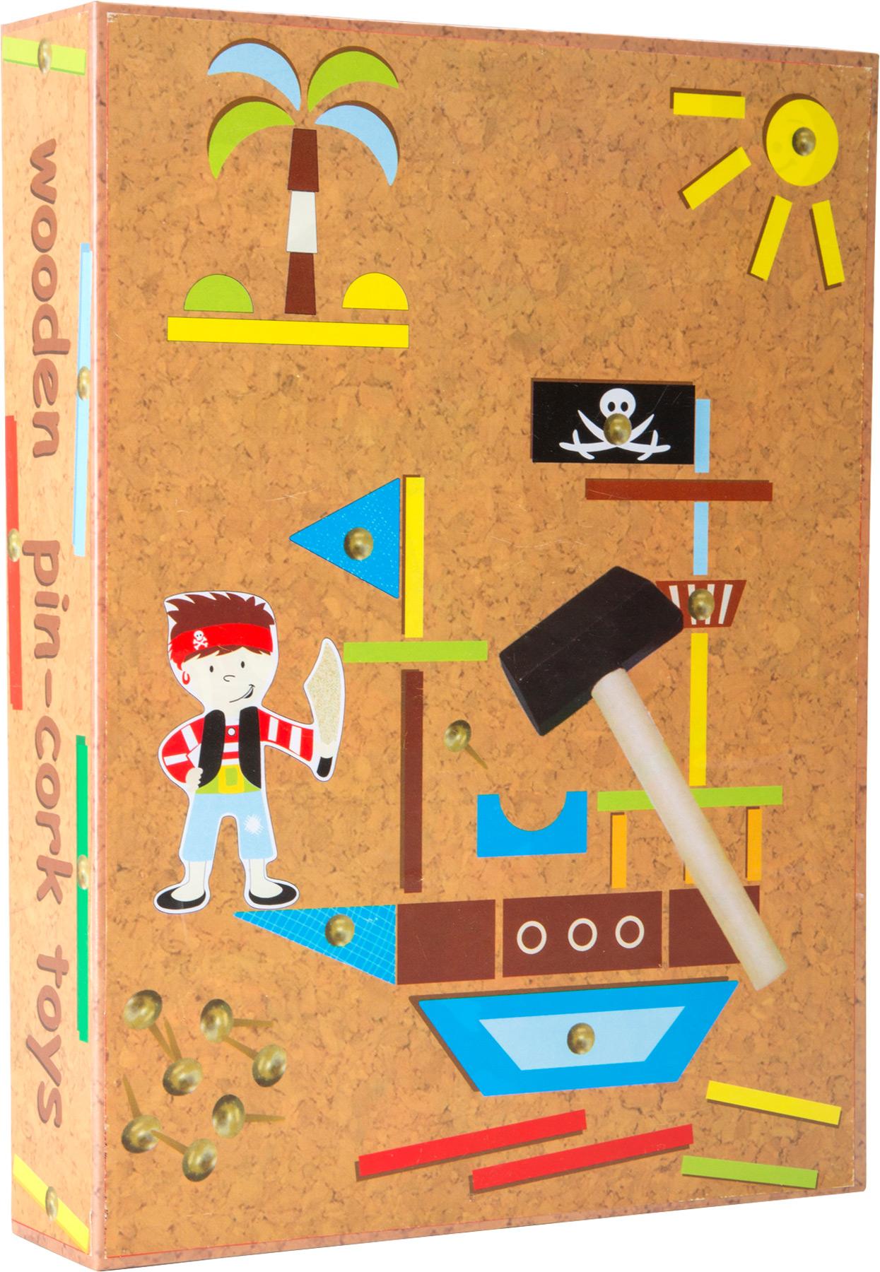 Small Foot Drevená kreatívna hra piráti