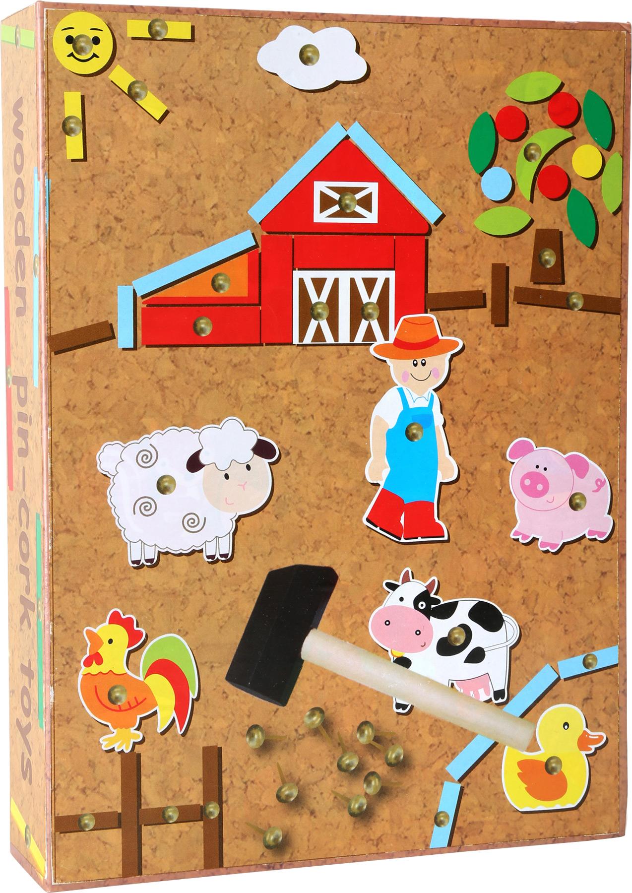 Small Foot Drevená kreatívna hra farma