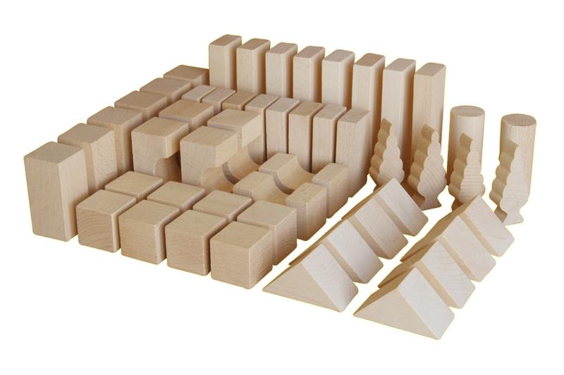 EkoToys Drevené kocky prírodné 50 ks