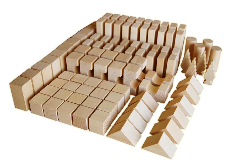 EkoToys Drevené kocky prírodné 100 ks