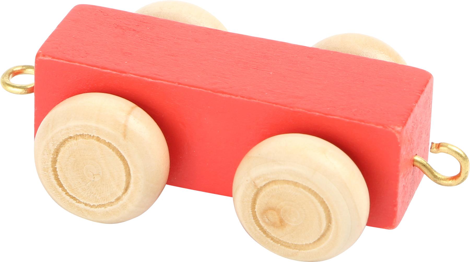 Small Foot Vláčik abeceda - Farebný plochý vagónik