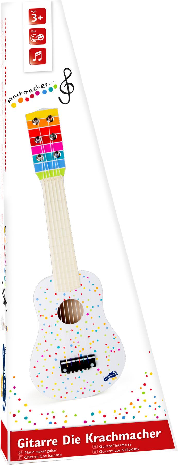 Small Foot Drevená gitara s bodkami