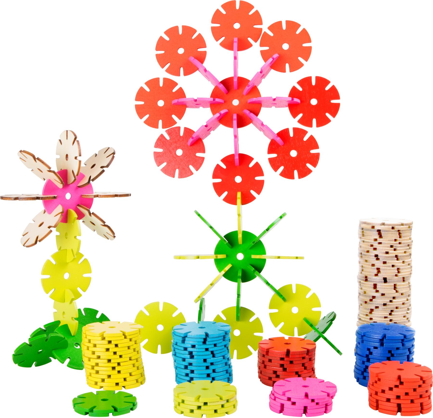 Small Foot Drevená spojovacia hra kvetina sada 240 ks