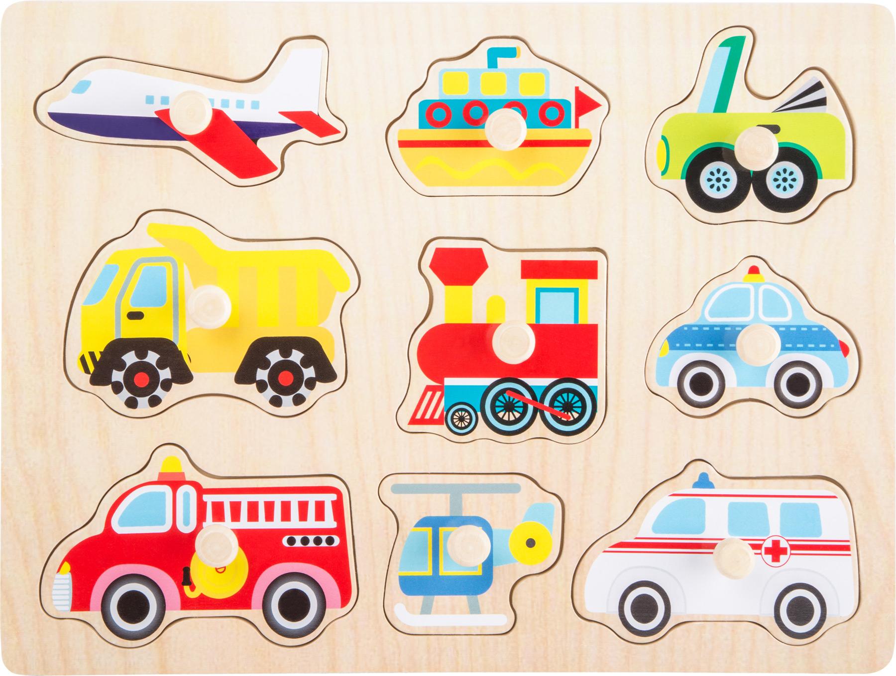 Small Foot Drevené vkladacie puzzle - Vozidlá