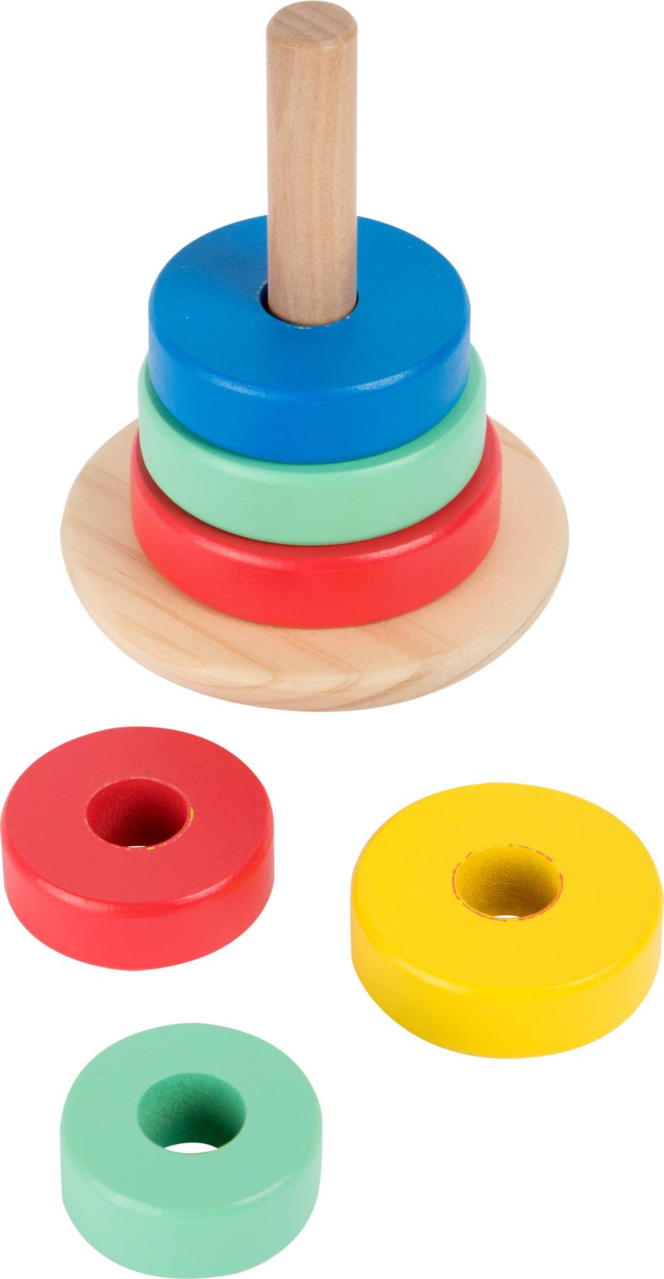 Small Foot Drevená motorická nasadzovacia hra - Veža Movere