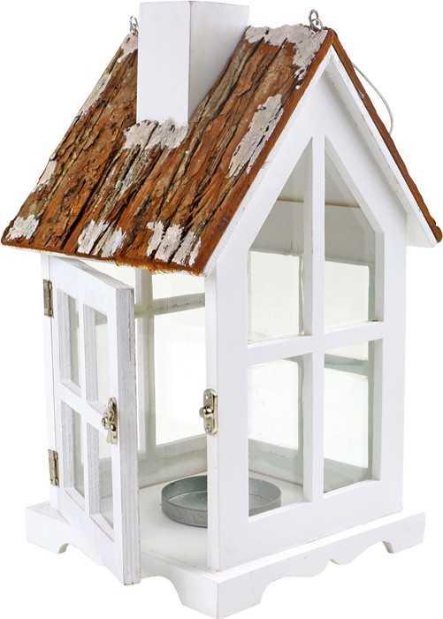 Small Foot Drevené dekorácie - Lampáš Vidiecky dom