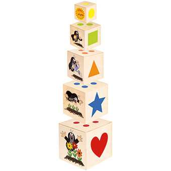Dřevěné hračky - Pyramida Krtek