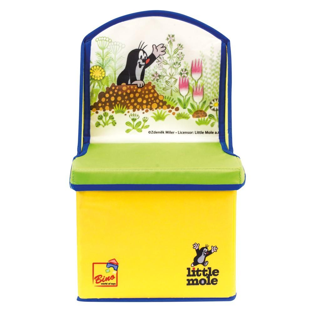 Bino - Krtek 2v1 box na hračky- židle