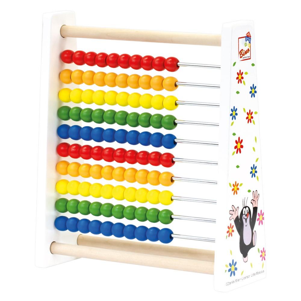 Dřevěné hračky - Krteček počítadlo