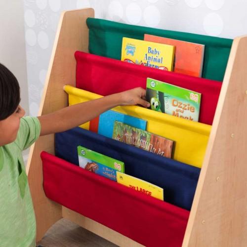 KidKraft Knihovna s lákovými policemi barevná