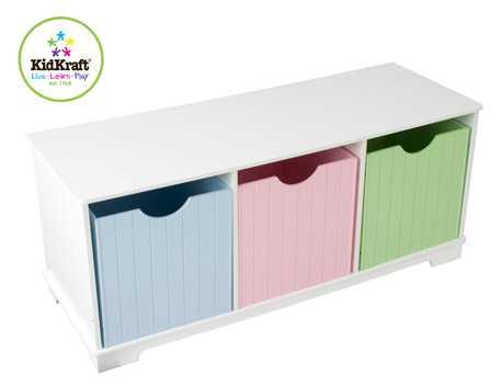 KidKraft - barevná lavička na hračky