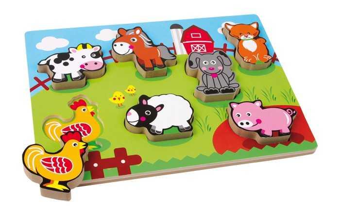 Small Foot Vkladacie puzzle - Zvieracia farma