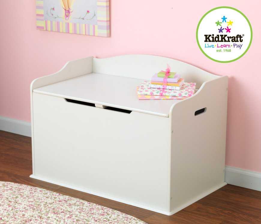 KidKraft - Box na hračky Austin - bílý