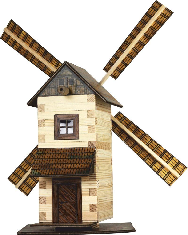 Walachia Drevená zlepovacia stavebnica Veterný mlyn