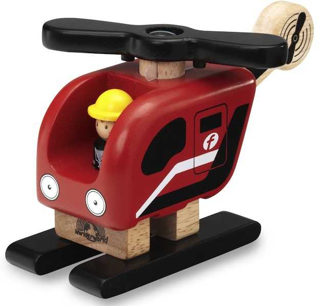 Dřevěné hračky - dřevěná Mini helikoptéra