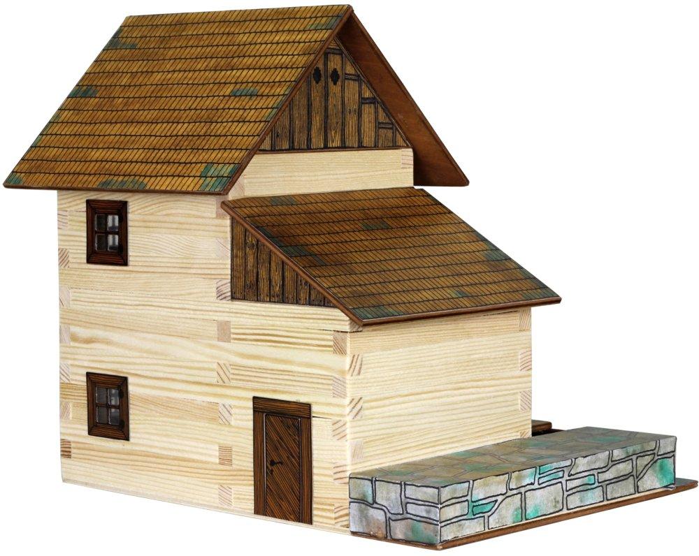 Dřevěná slepovací stavebnice Walachia Vodní mlýn