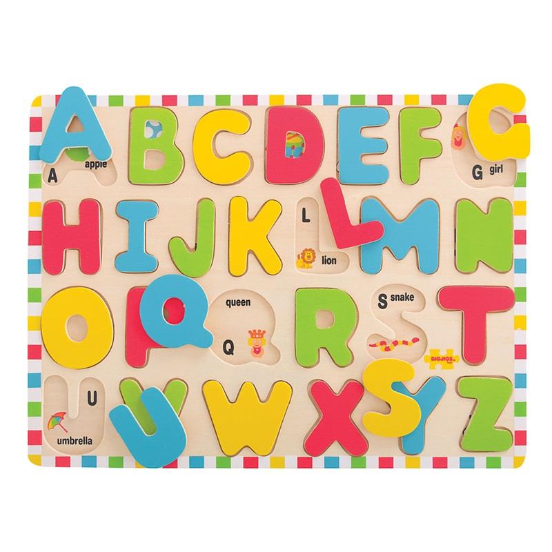 Bigjigs Toys Anglická abeceda veľké písmená s obrázkami