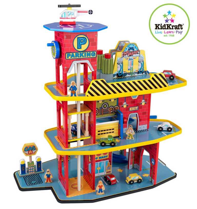 Dřevěná garáž - KidKraft deluxe garage set