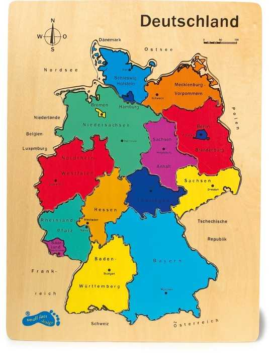 Small Foot Drevené Puzzle Nemecko