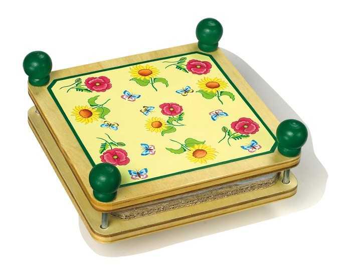 Small Foot Drevený lis na kvety, zelený