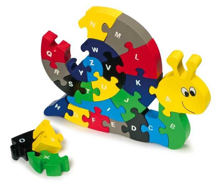 Small Foot Vkladacie Puzzle - Slimák