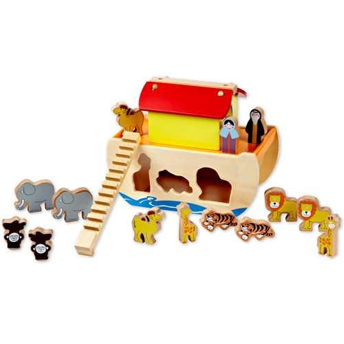 Dřevěné hračky - Noemova archa se zvířátky