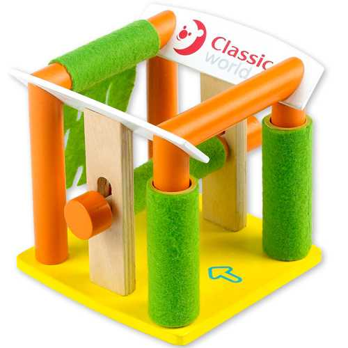 Dřevěné hračky - Garáže - Dřevěná automyčka