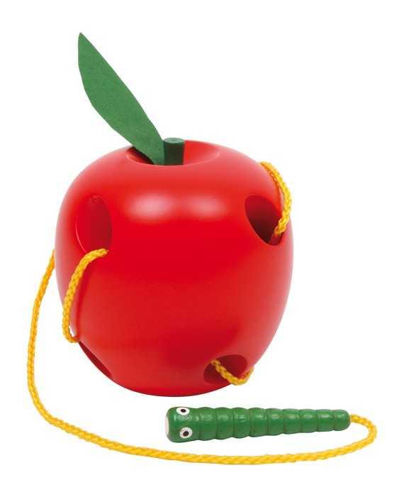Small Foot Drevená prevliekacia hračka - Jablko
