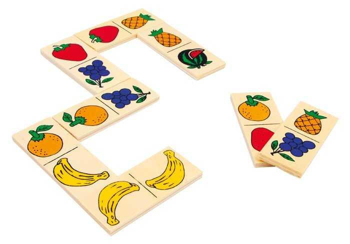 Small Foot drevené hry - Domino Ovocie