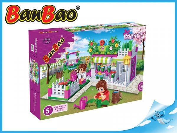 BanBao stavebnice - Trendy City - květinářství 252ks + 2 figurky ToBees
