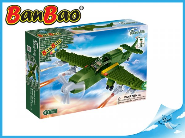 BanBao Bitevní letadlo 190ks + 1 figurka ToBees
