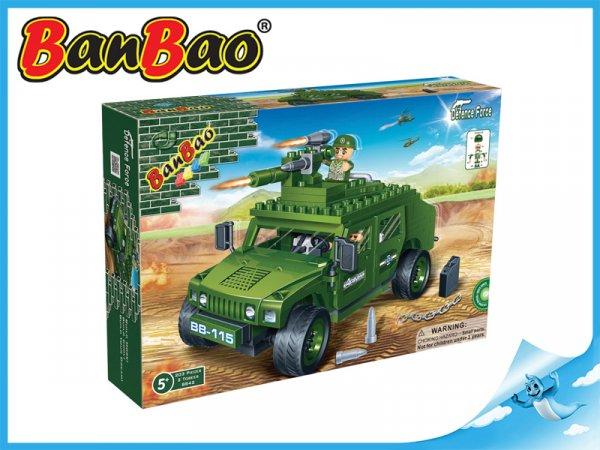 BanBao Vozidlo Humvee 203ks + 2 figurky ToBees