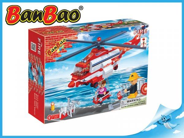 BanBao Hasičský vrtulník 272ks + 3 figurky ToBees