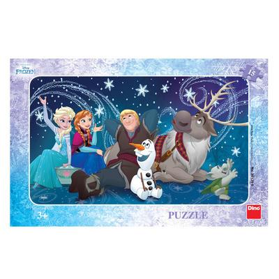 Dino puzzle Frozen sněhové vločky 15 dílků