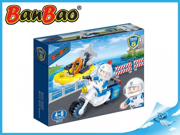 BanBao stavebnice - Police - policejní člun 58ks + 1 figurka ToBees