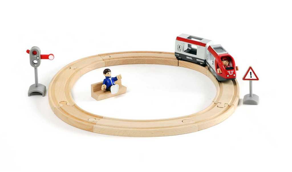 Vláčkodráha kruhová Brio, osobní vlak, 15 dílů