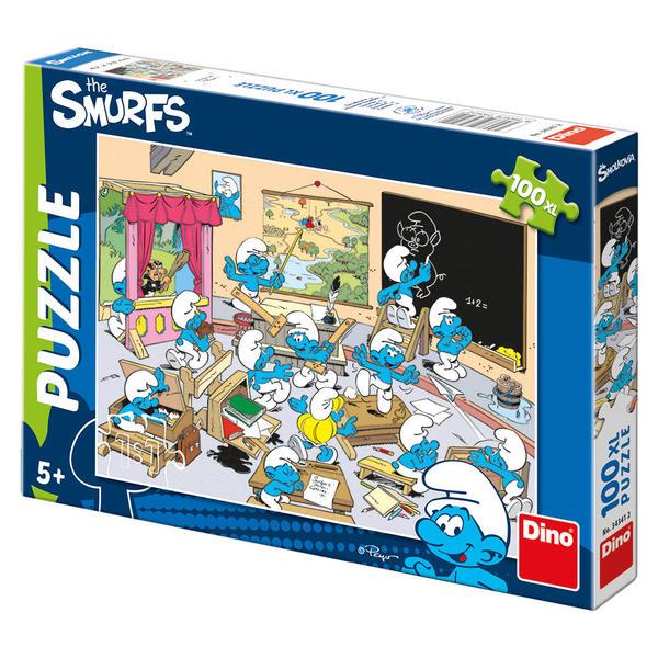 Dino  puzzle Šmoulovéí ve škole