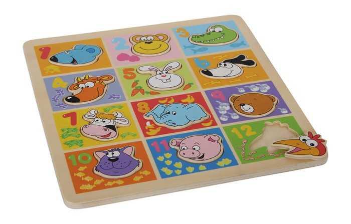 Small Foot Puzzle Zvieratá s číslami