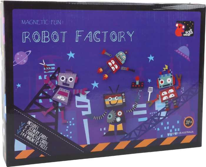 Small Foot Magnetické puzzle Roboti